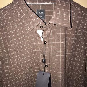 d6e9ffef2 BOSS HUGO BOSS men's shirt XL dress shirt NEW $275